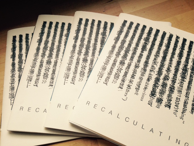 recalculating zine index/fist